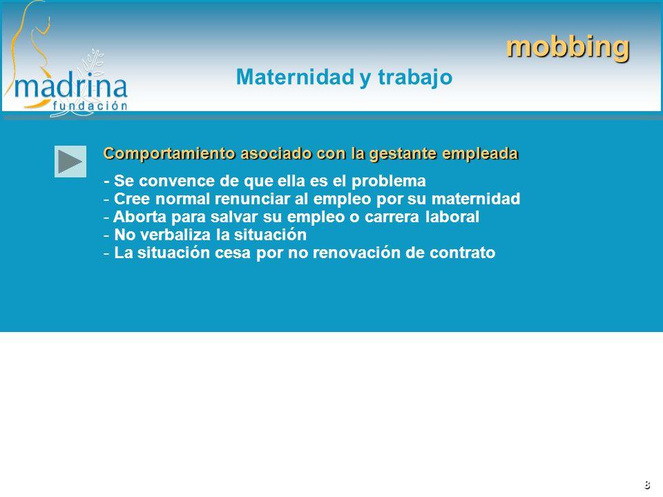 mobbing Maternidad y trabajo