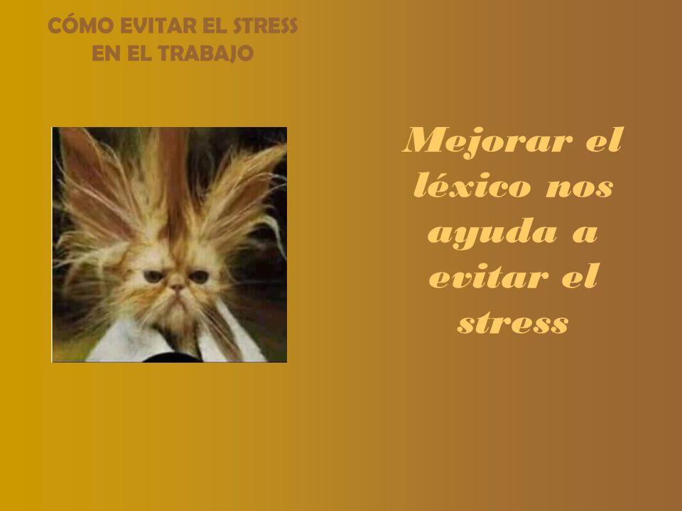 CÓMO EVITAR EL STRESS EN EL TRABAJO