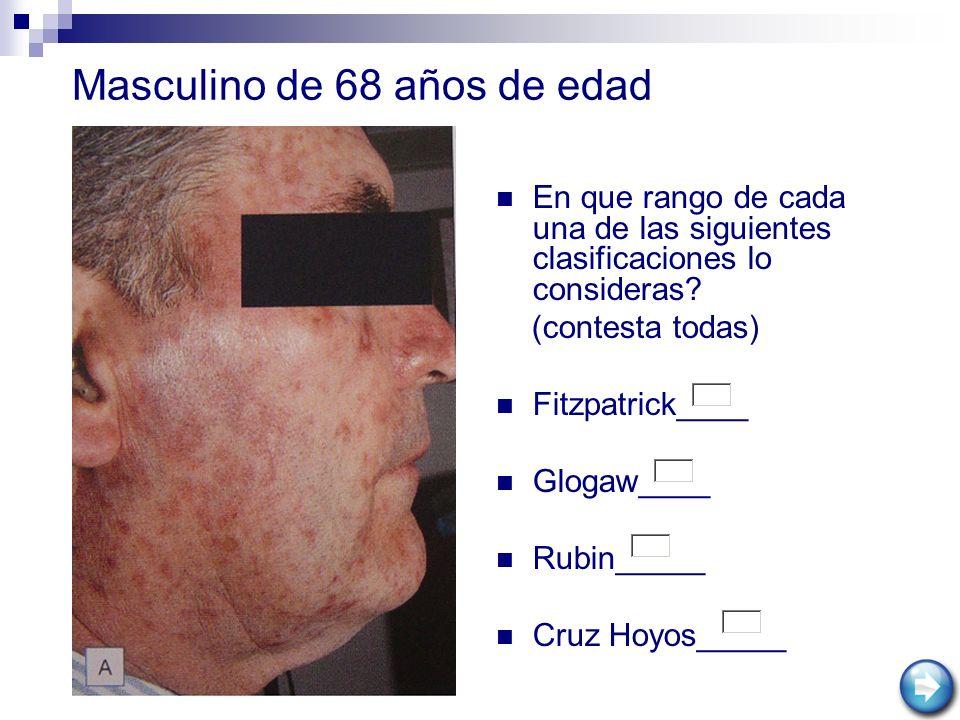 Masculino de 68 años de edad