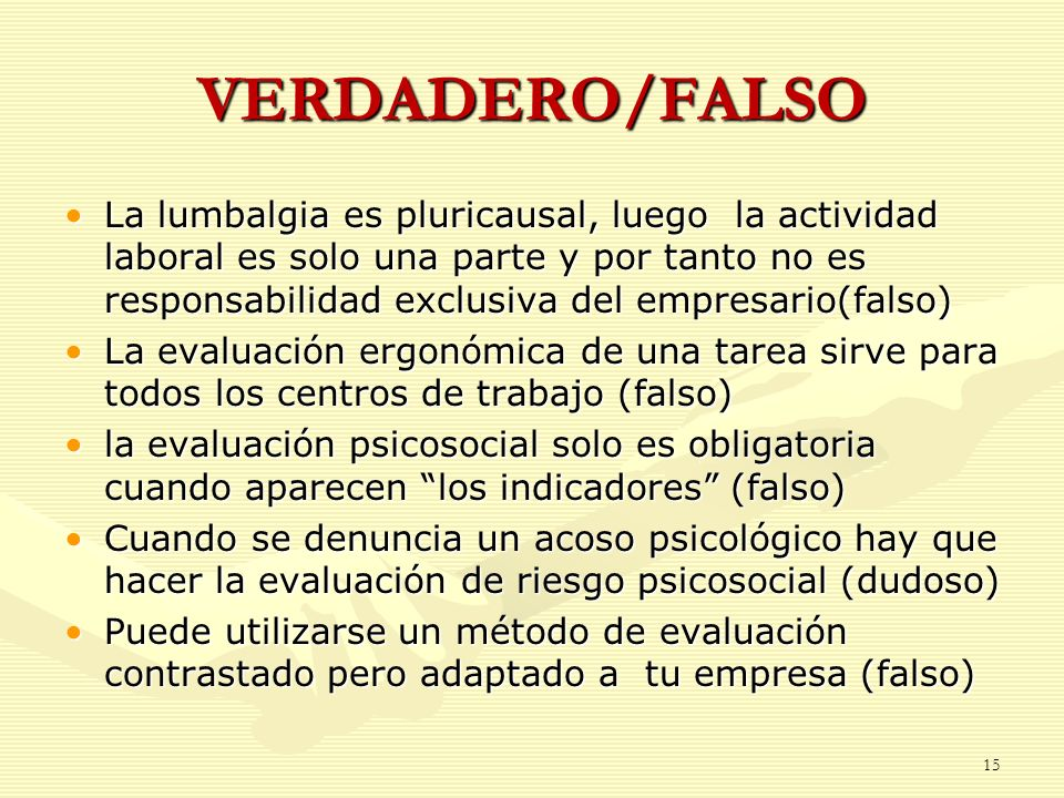 VERDADERO/FALSO