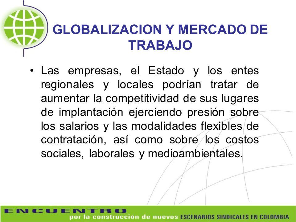GLOBALIZACION Y MERCADO DE TRABAJO