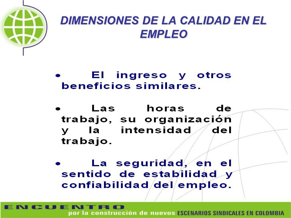 DIMENSIONES DE LA CALIDAD EN EL EMPLEO
