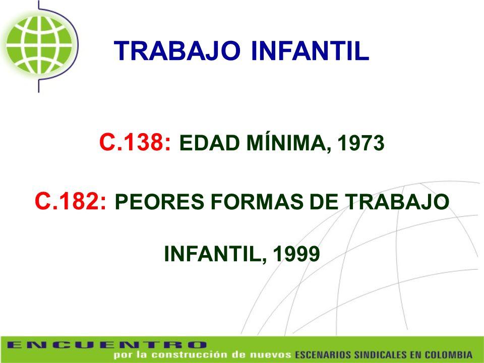 C.182: PEORES FORMAS DE TRABAJO INFANTIL, 1999