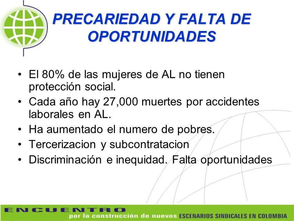 PRECARIEDAD Y FALTA DE OPORTUNIDADES