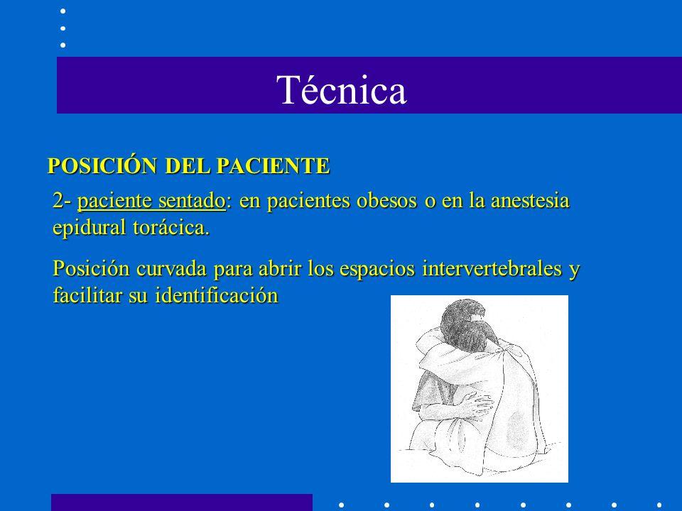 Técnica POSICIÓN DEL PACIENTE