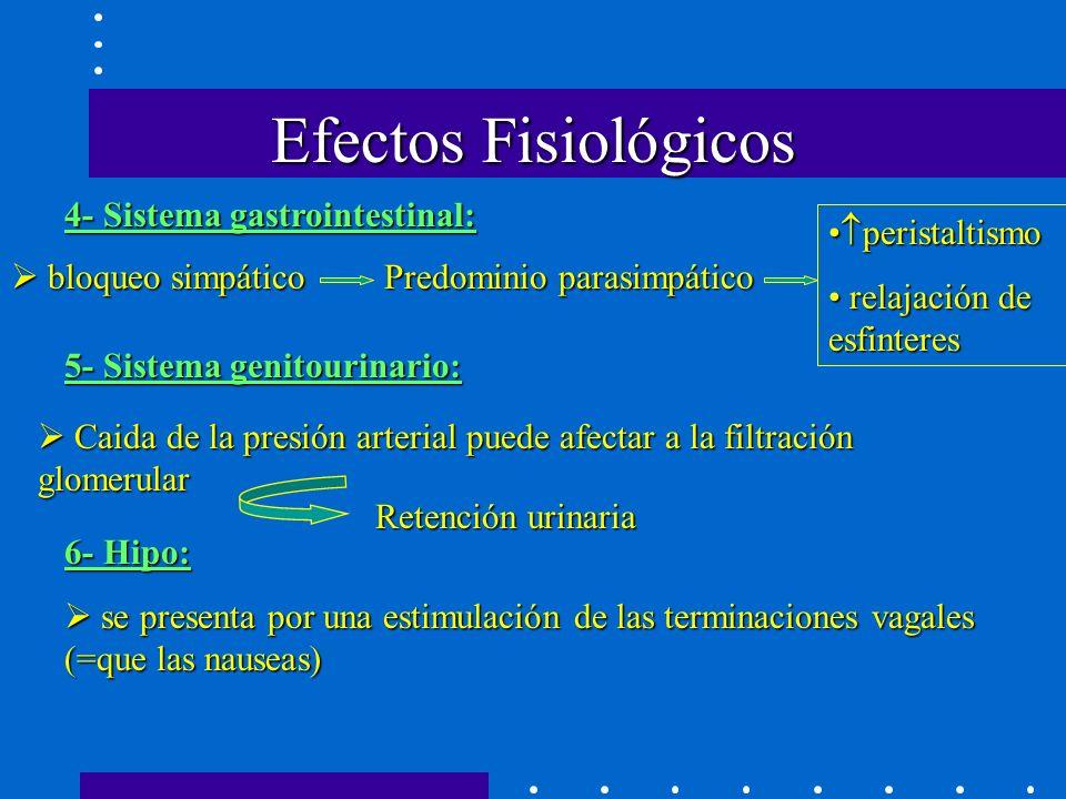 Efectos Fisiológicos 4- Sistema gastrointestinal: peristaltismo