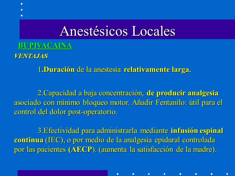 Anestésicos Locales BUPIVACAINA