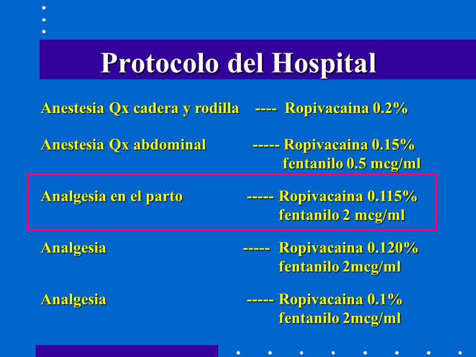 Protocolo del Hospital