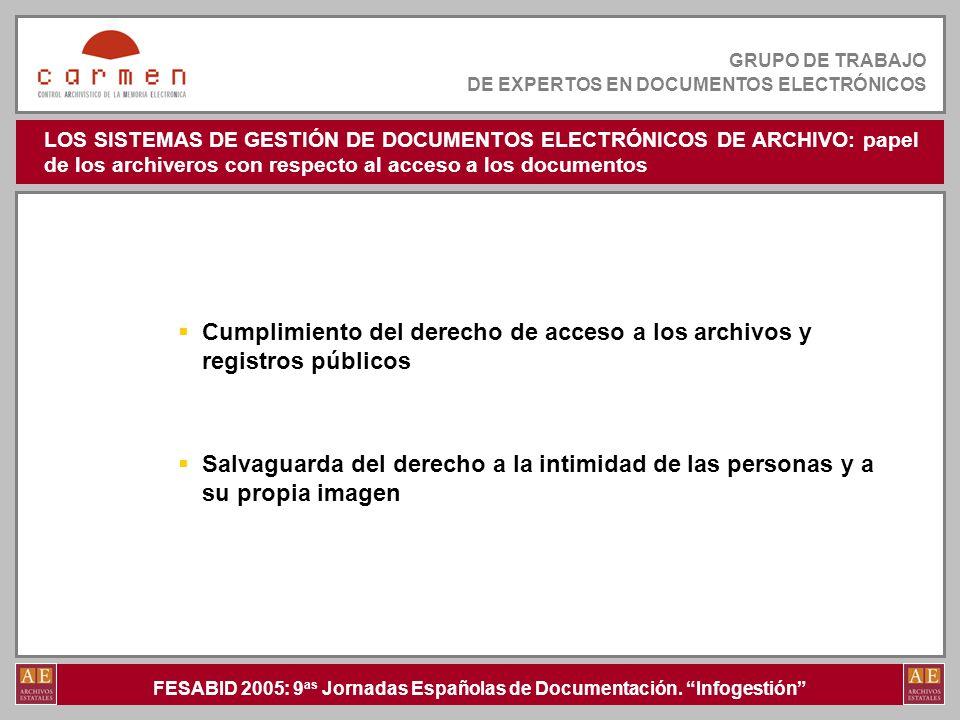 Cumplimiento del derecho de acceso a los archivos y registros públicos