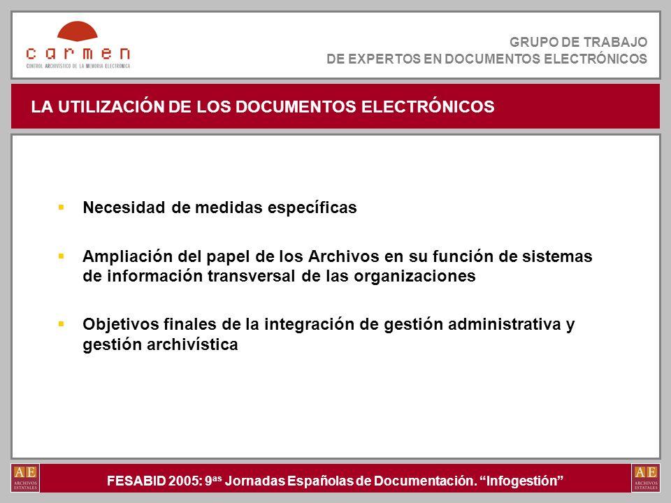 LA UTILIZACIÓN DE LOS DOCUMENTOS ELECTRÓNICOS