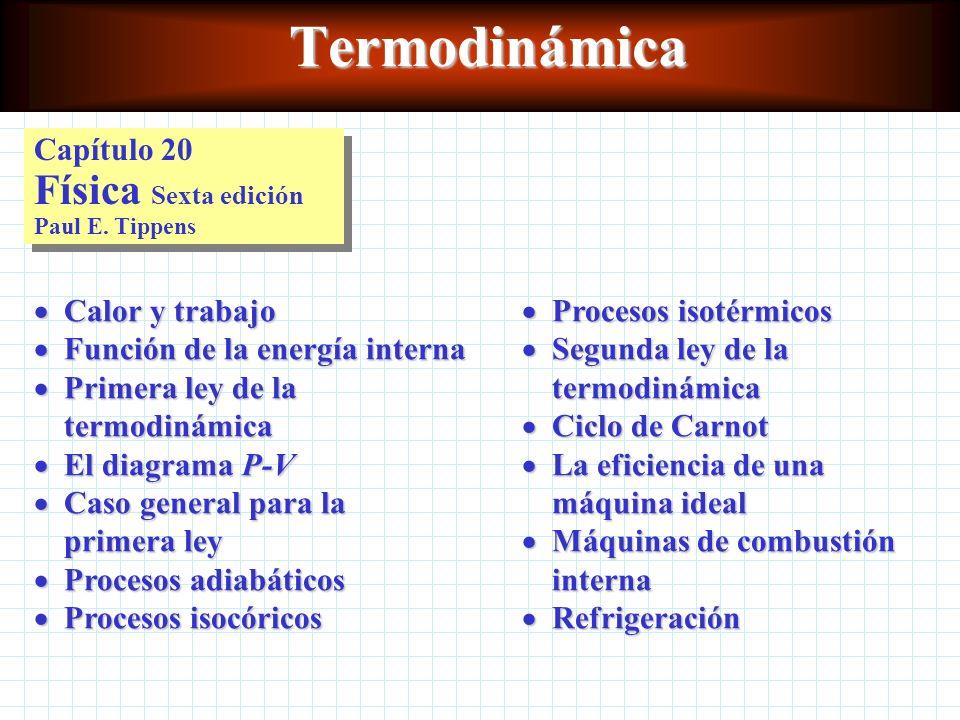 Termodinámica Capítulo 20 Física Sexta edición Paul E. Tippens