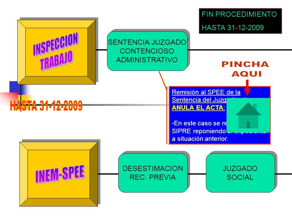 INSPECCION TRABAJO PINCHA AQUI HASTA 31-12-2009 INEM-SPEE