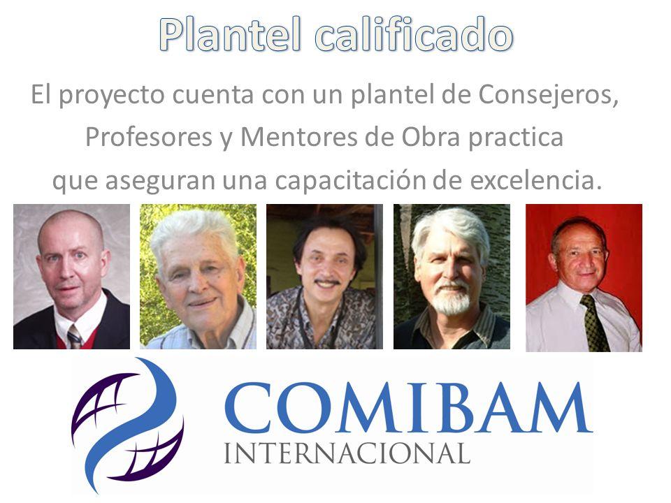 Plantel calificado El proyecto cuenta con un plantel de Consejeros,