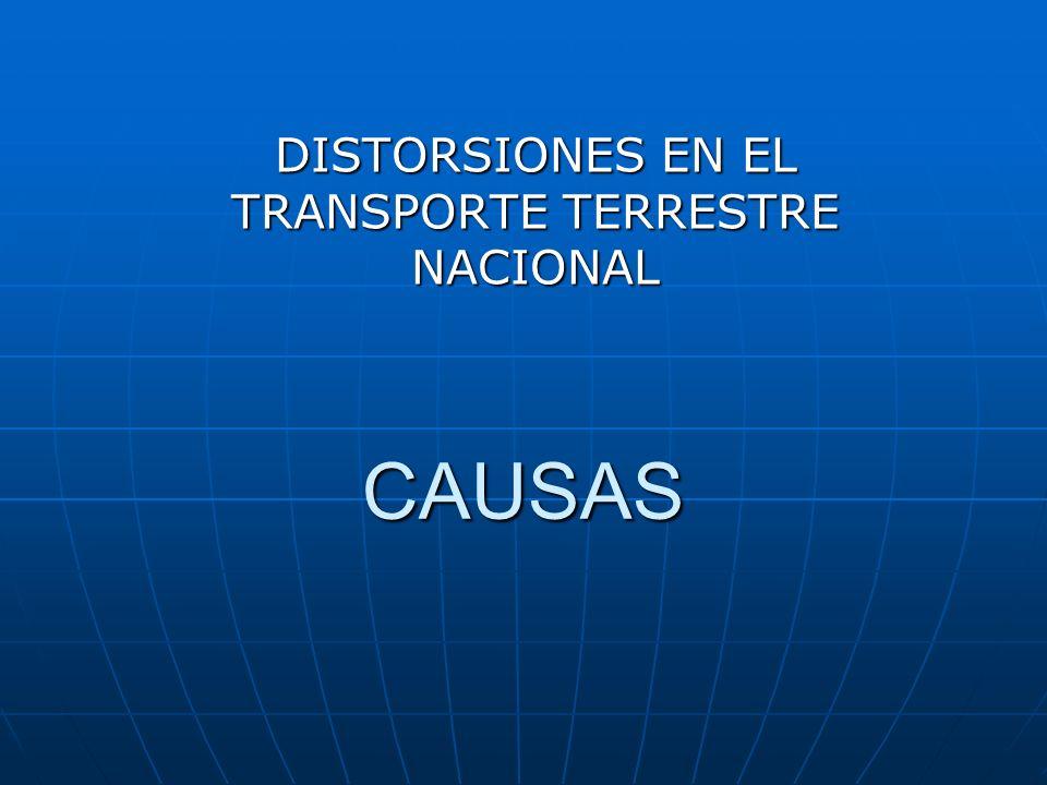 DISTORSIONES EN EL TRANSPORTE TERRESTRE NACIONAL