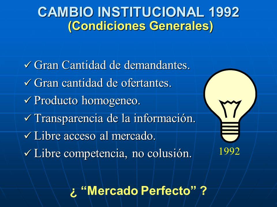 CAMBIO INSTITUCIONAL 1992 (Condiciones Generales)