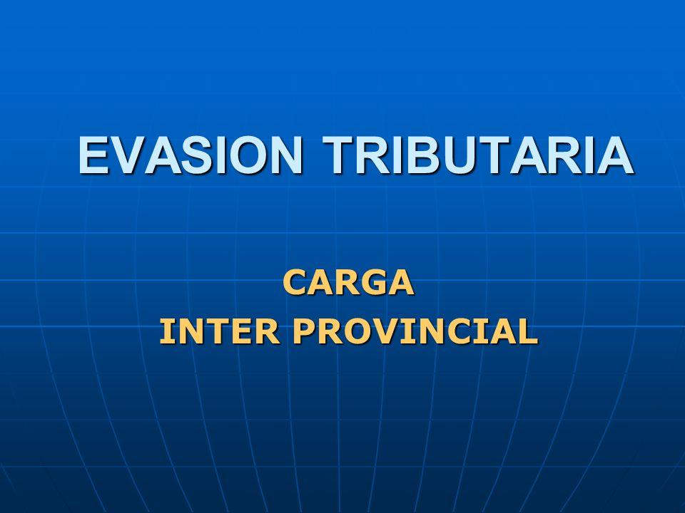 CARGA INTER PROVINCIAL