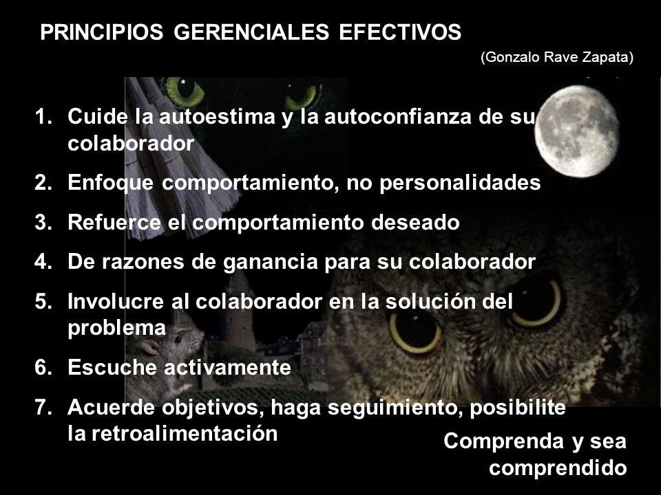 PRINCIPIOS GERENCIALES EFECTIVOS