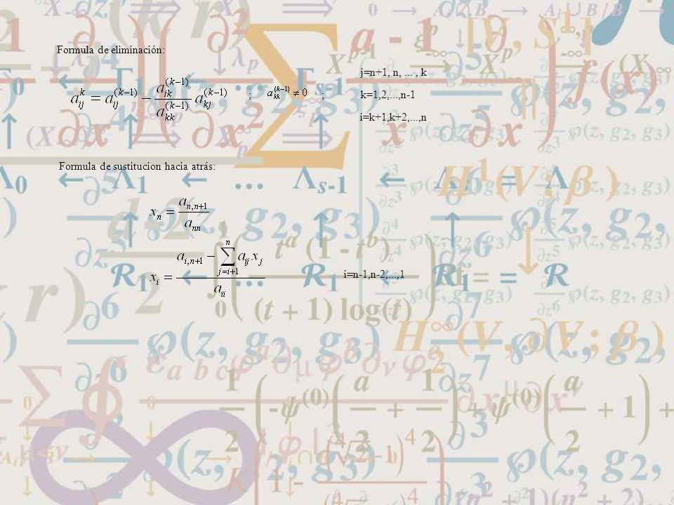 Formula de eliminación: