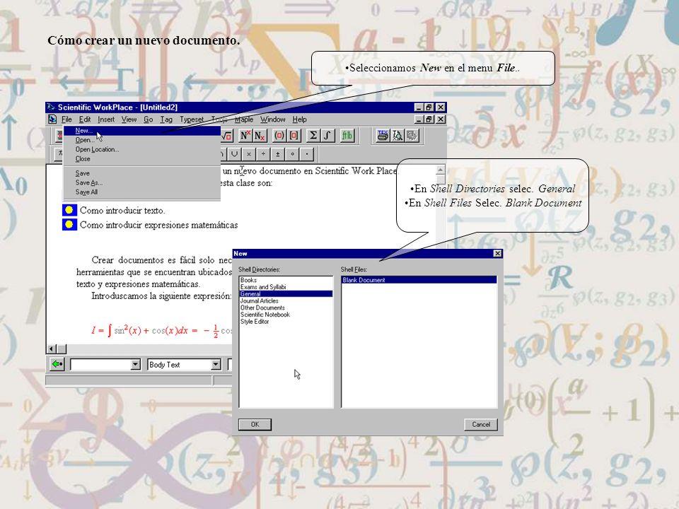 Cómo crear un nuevo documento.