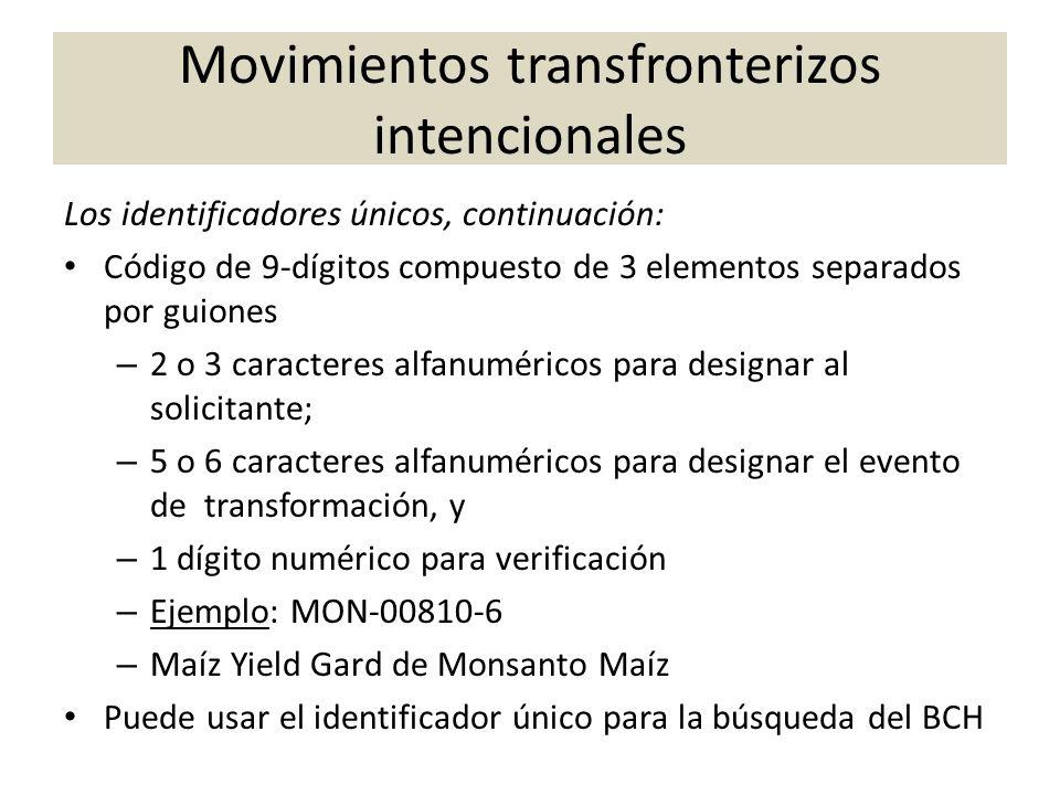 Movimientos transfronterizos intencionales