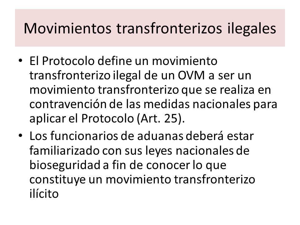 Movimientos transfronterizos ilegales