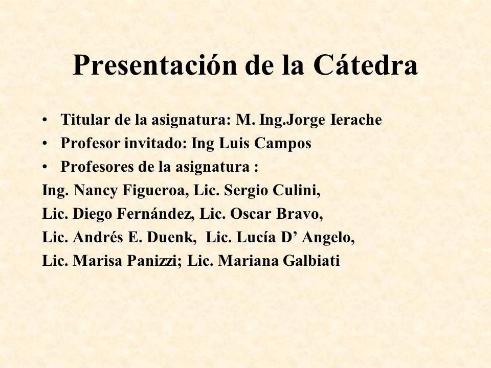 Presentación de la Cátedra