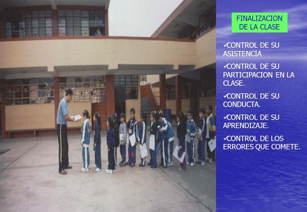FINALIZACION DE LA CLASE