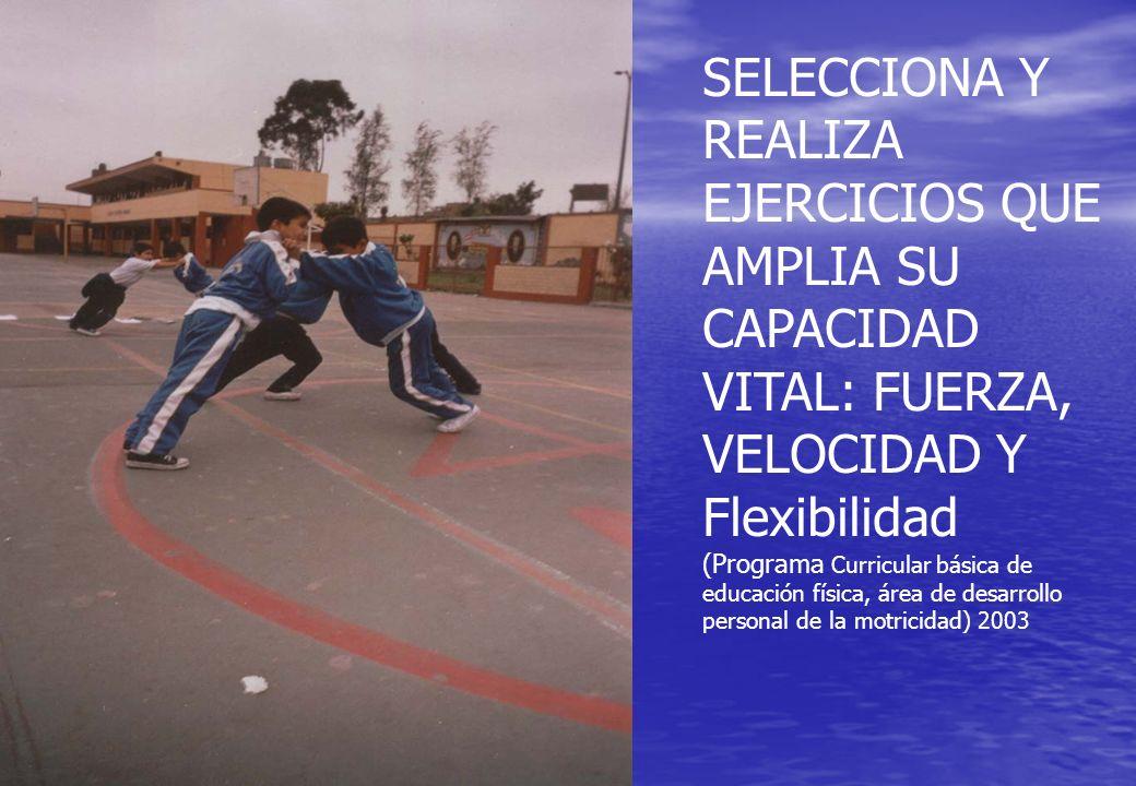 SELECCIONA Y REALIZA EJERCICIOS QUE AMPLIA SU CAPACIDAD VITAL: FUERZA, VELOCIDAD Y Flexibilidad