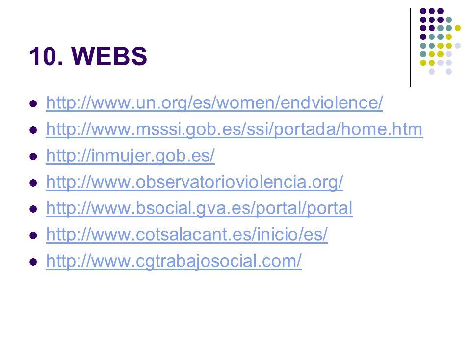 10. WEBS http://www.un.org/es/women/endviolence/
