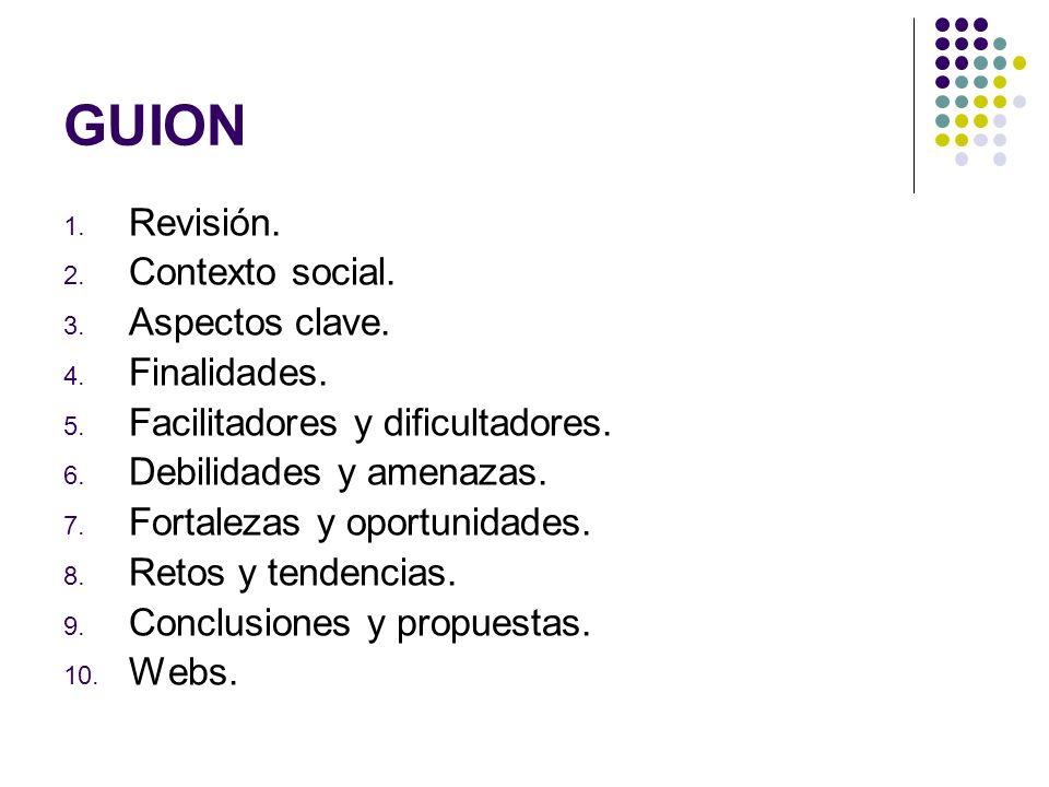 GUION Revisión. Contexto social. Aspectos clave. Finalidades.