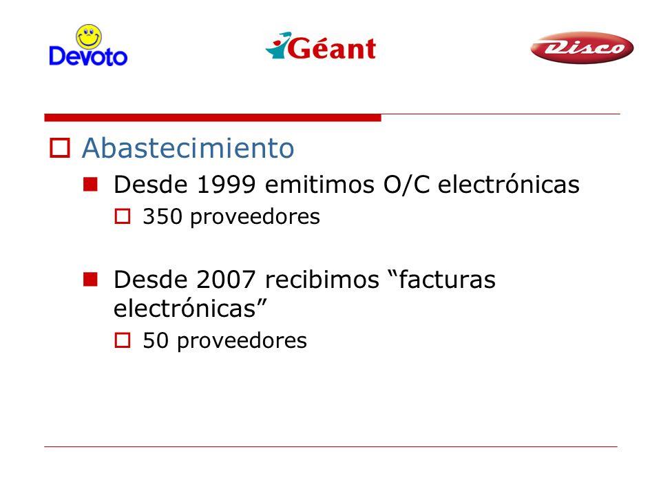 Abastecimiento Desde 1999 emitimos O/C electrónicas