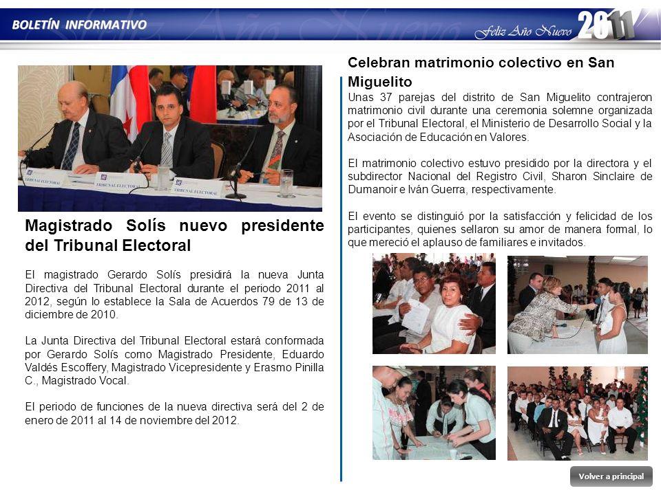 Magistrado Solís nuevo presidente del Tribunal Electoral