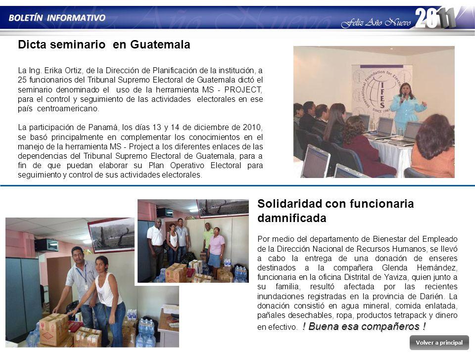 Dicta seminario en Guatemala
