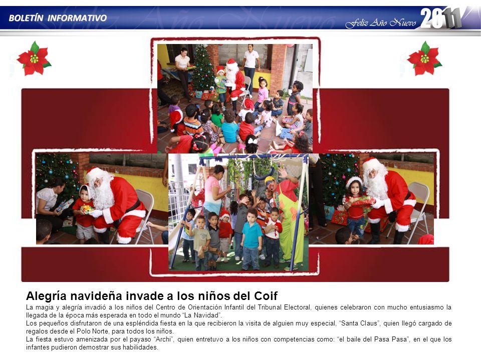 Alegría navideña invade a los niños del Coif