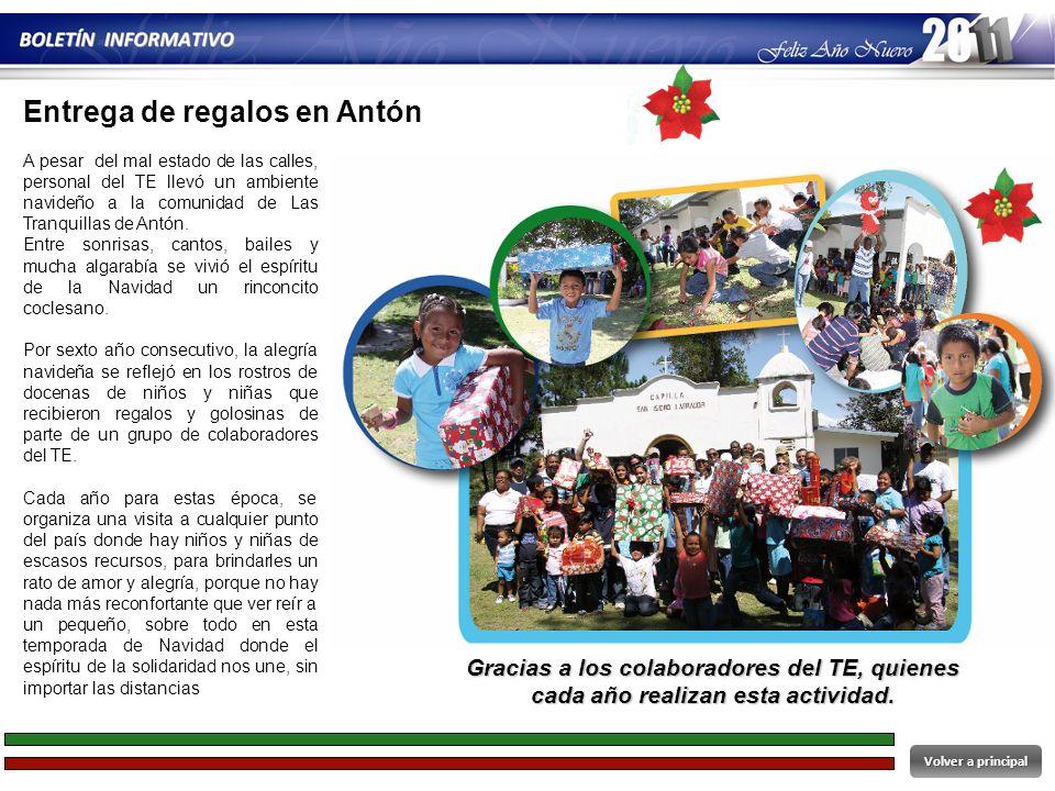 Entrega de regalos en Antón
