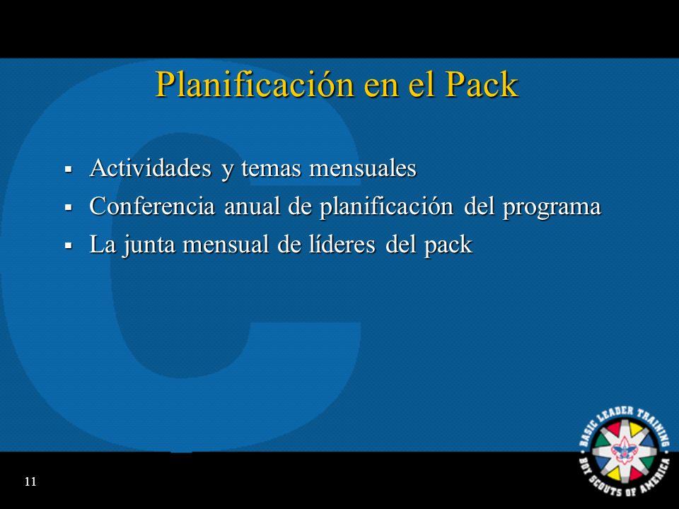 Planificación en el Pack