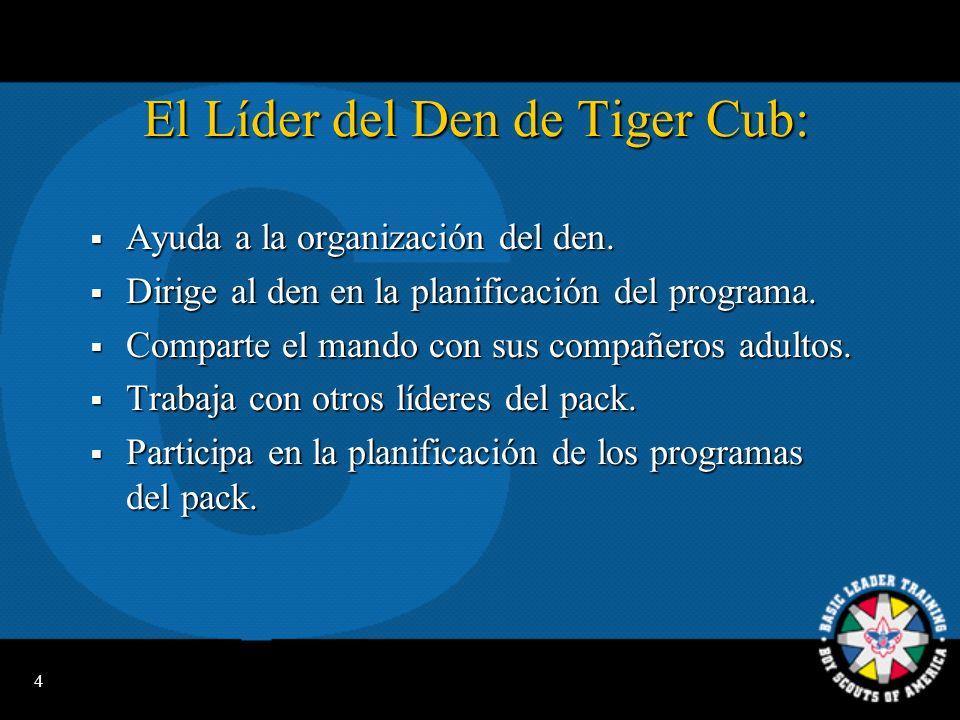 El Líder del Den de Tiger Cub: