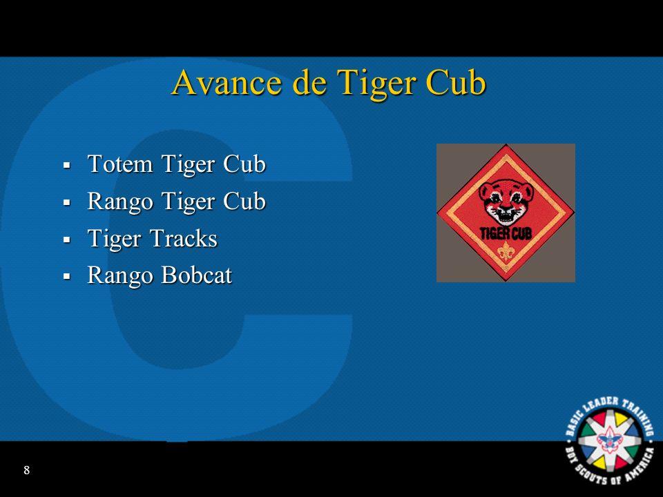 Avance de Tiger Cub Totem Tiger Cub Rango Tiger Cub Tiger Tracks