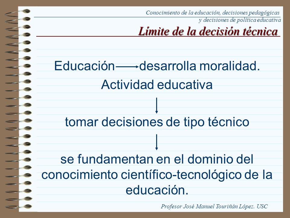 Educación desarrolla moralidad. Actividad educativa
