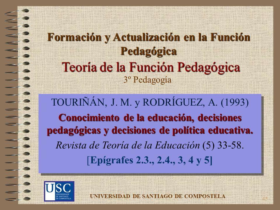 Formación y Actualización en la Función Pedagógica