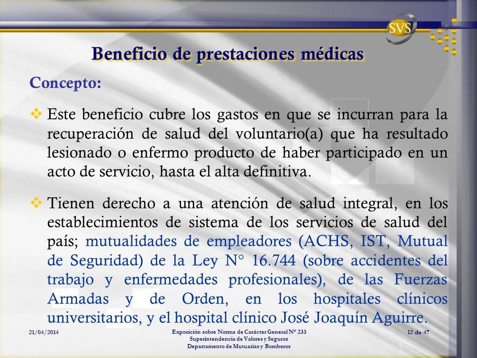 Beneficio de prestaciones médicas