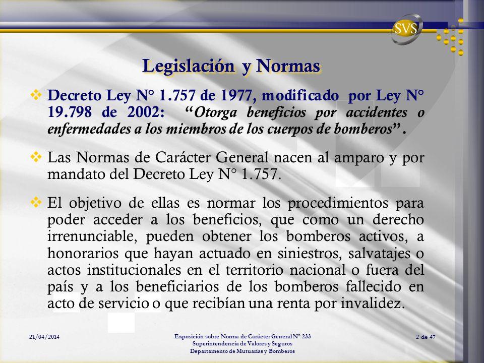 Legislación y Normas