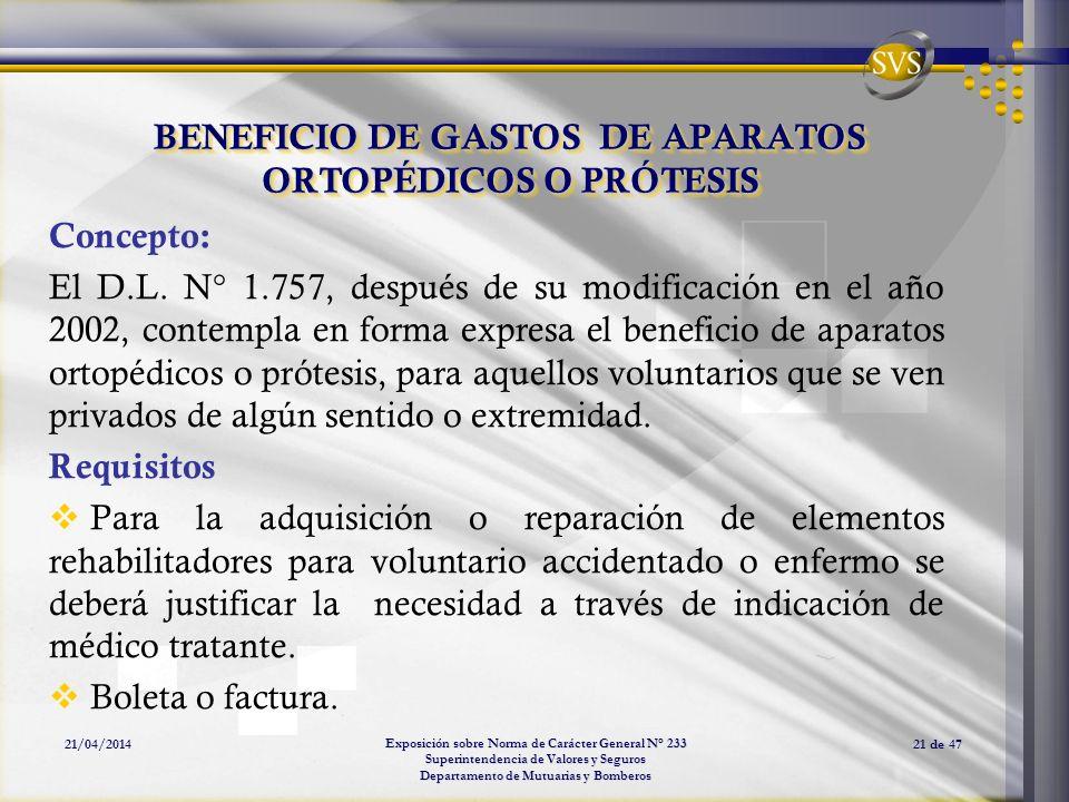 BENEFICIO DE GASTOS DE APARATOS ORTOPÉDICOS O PRÓTESIS