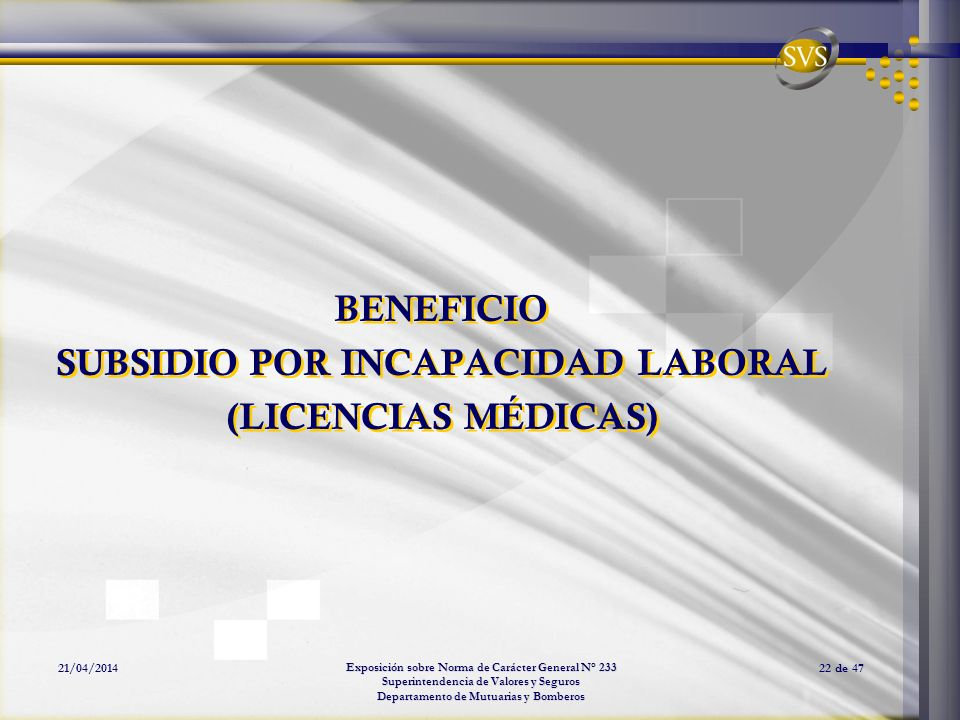 SUBSIDIO POR INCAPACIDAD LABORAL