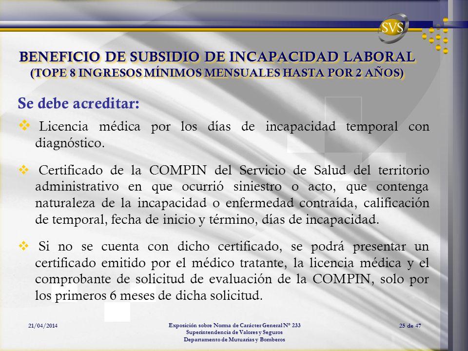 Licencia médica por los días de incapacidad temporal con diagnóstico.