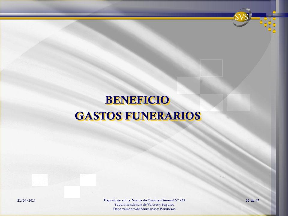 BENEFICIO GASTOS FUNERARIOS