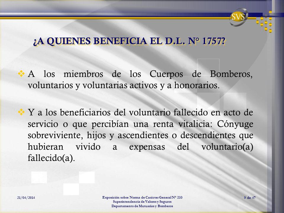¿A QUIENES BENEFICIA EL D.L. N° 1757