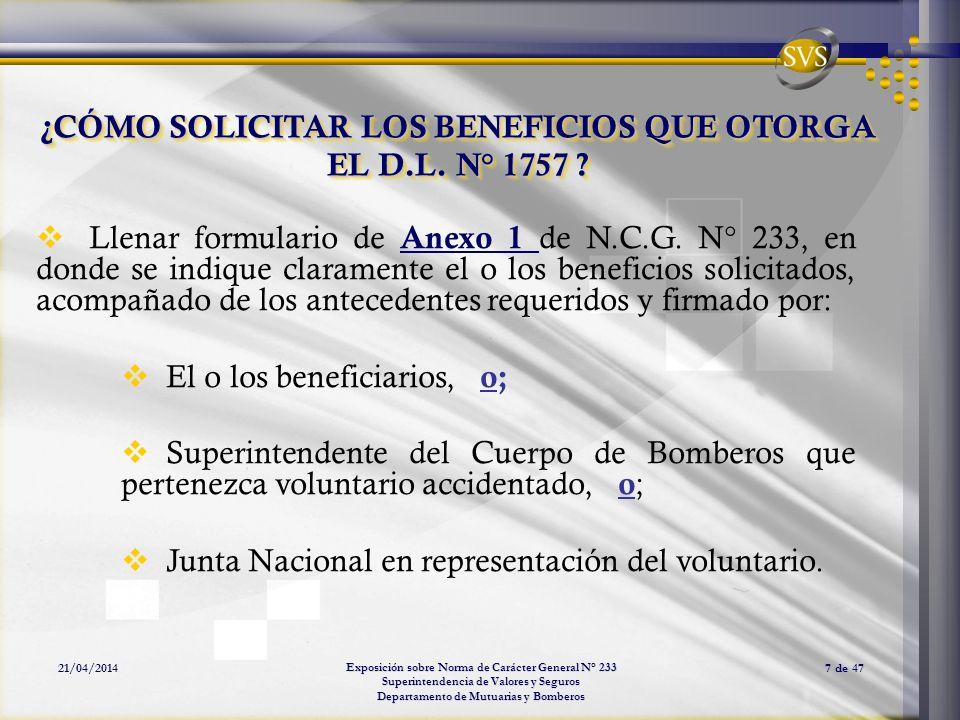 ¿CÓMO SOLICITAR LOS BENEFICIOS QUE OTORGA EL D.L. N° 1757