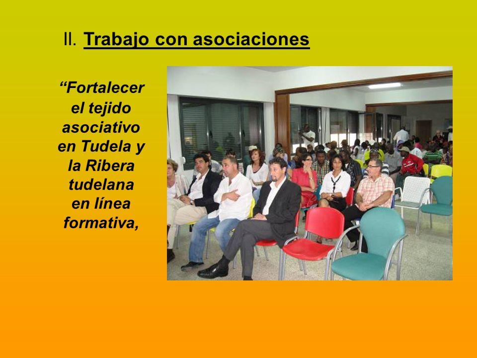 II. Trabajo con asociaciones