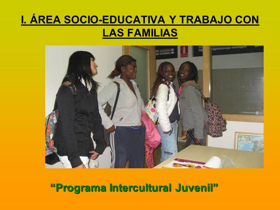 I. ÁREA SOCIO-EDUCATIVA Y TRABAJO CON LAS FAMILIAS
